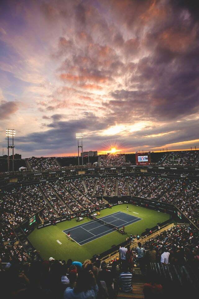 tennis wedstijd